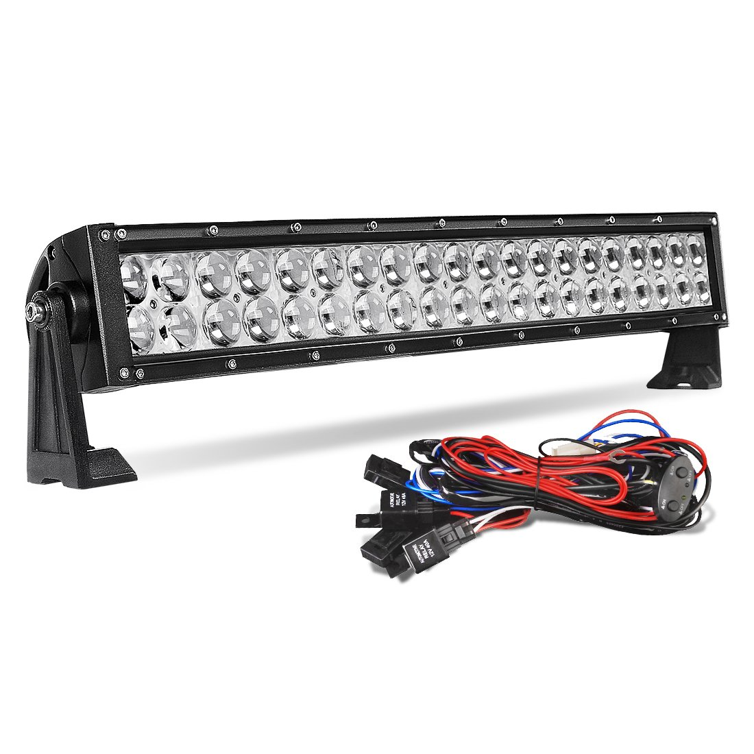 Amazon.com: LED Light Bar 24 Inch AUTO 4D 200W with 8ft Wiring ...