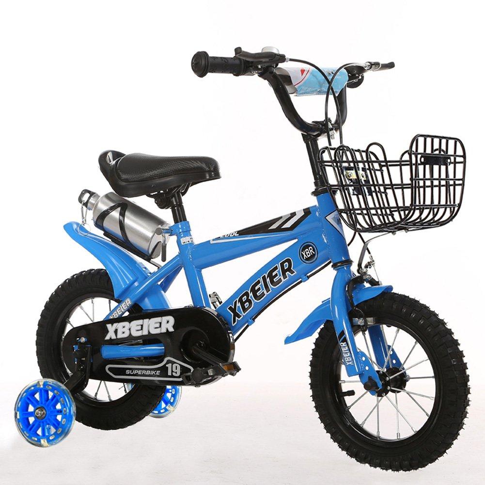 【本物保証】 CHS@ 子供用自転車12/14/16/18インチユニセックス子供用自転車29歳フラッシュトレーニングホイール付きベビーカー 子ども用自転車 CHS@ (色 (色 : : 青, サイズ さいず : 16