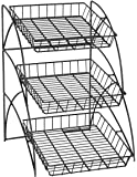 Wire Shelving Display Rack for Tabletop Use, Black: Home & Kitchen