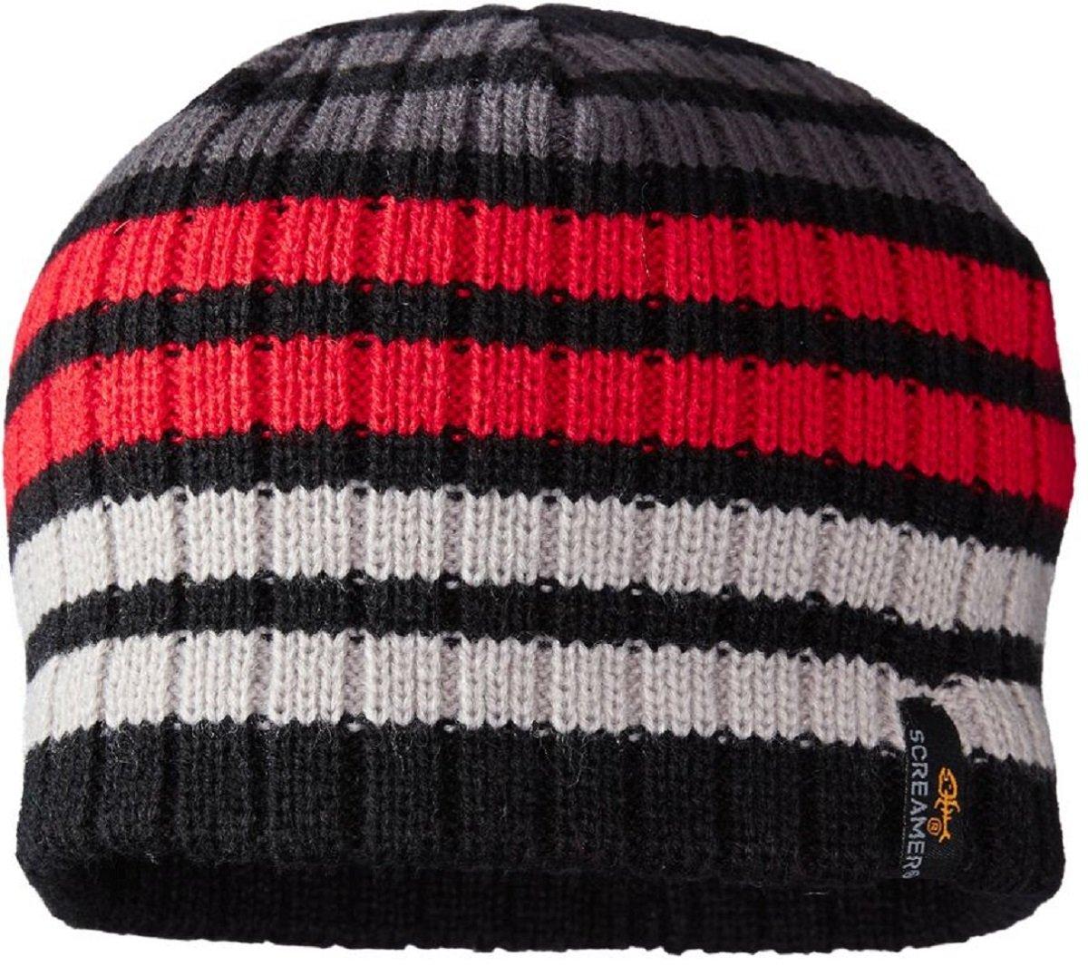 Screamer Kids' Dodge Ball Beanie, Black/Red/Charcoal, One-Size