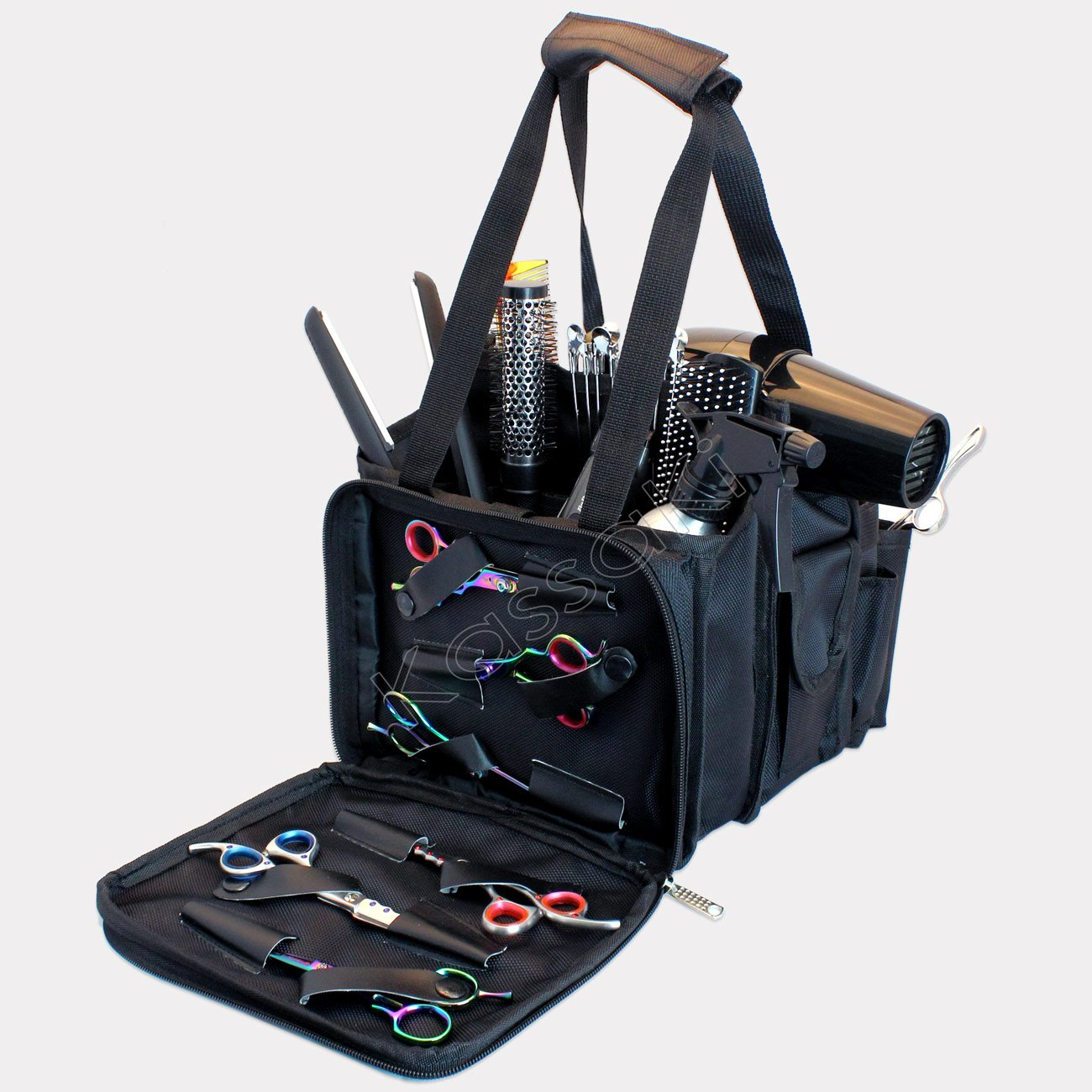 BLACK Hairdressing Tool Bag Carry Case Perfect for Hairdresser/Barber/Salon Accessories Storage/Session Kassaki