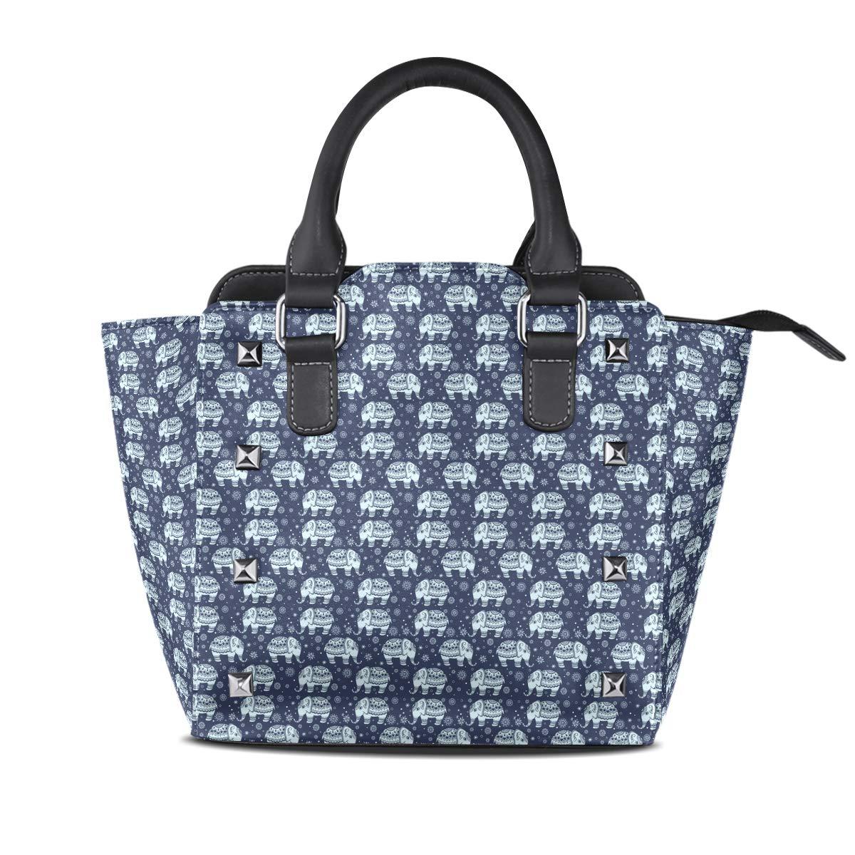 Design4 Handbag Beautiful Butterfly Genuine Leather Tote Rivet Bag Shoulder Strap Top Handle Women