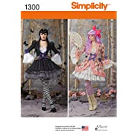 SIMPLICITY US1300R5 Misses' Costume Overdress and Skirt Sewing Template