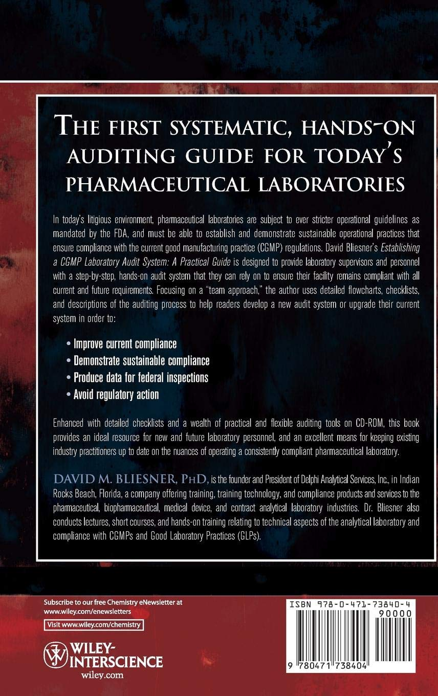 Buy Establishing A CGMP Laboratory Audit System: A Practical Guide