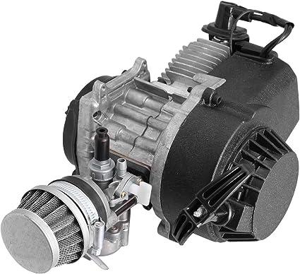 Samger Samger49cc 2 Tiempos Motor Mini Motor Pullstart Carburador Filtro de Aire Cabeza Dirt Bike Quad Pocket Bike: Amazon.es: Coche y moto