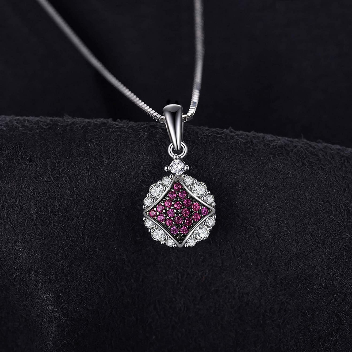 MMC Silver Pendants Vintage Fashion Ruby Round Charms Necklaces for Womens