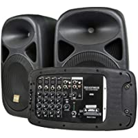 Deals on Monoprice 130W 8-ch AIO Portable PA System w/2 Speakers