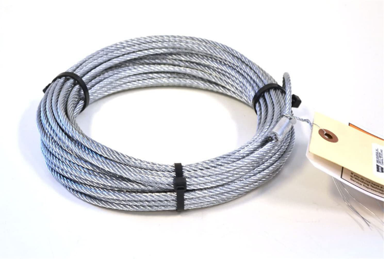 """5//16/"""" x 50 ft Galvanized Wire Rope Winch Cable with Button"""