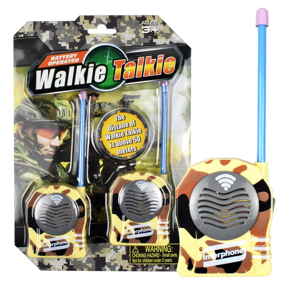2Pcs Portable Wireless Walkie Talkie Kids Electronic Toys Developmental Intelligence Toy for Kids Puzzle Educational Learning Toy Growing Experiment Gift Toy Pretend Toy Toddlers Toy (Camouflage)