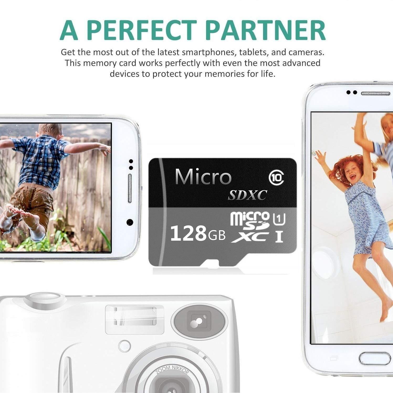 Tarjeta Micro SD SDXC de 128 GB de Alta Velocidad Clase 10 con Adaptador