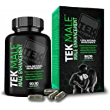 TEKMale™ All Natural #1 Rated Male Enhancement Growth - 11 Ingredients, 90 Pills, 30 Day Supply - Horny Goat Weed - Strength, Energy, Erections, Stamina and More (1)
