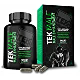 TEKMale™ All Natural #1 Rated Male Enhancement Growth - 11 Ingredients, 90 Pills, 30 Day Supply - Horny Goat Weed - Strength, Energy, Erections, Stamina and More