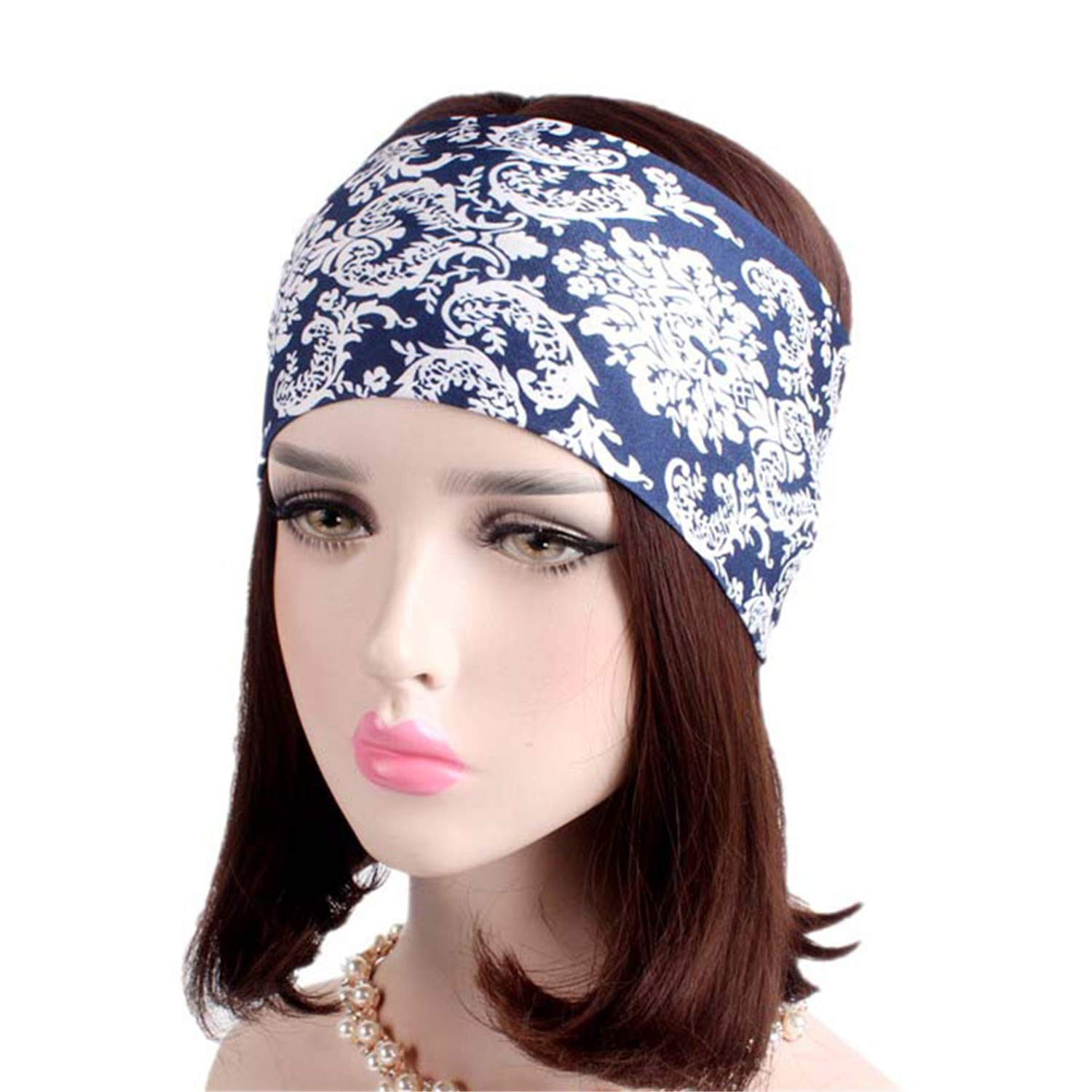Fashion Wide Cotton Yoga Headband For Women Adult Leopard Dots Striped Printed Fabric Hairband Turban Headwrap Hair Accessories Apparel Accessories Girl's Accessories