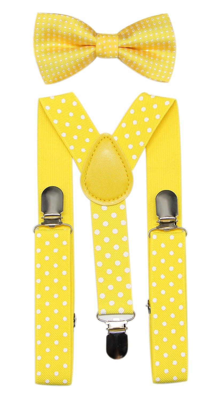 JAIFEI Suspender& Bow Tie Set-Adjustable Strong Clip-on Suspender for Boys& Girls JAIFEI1052