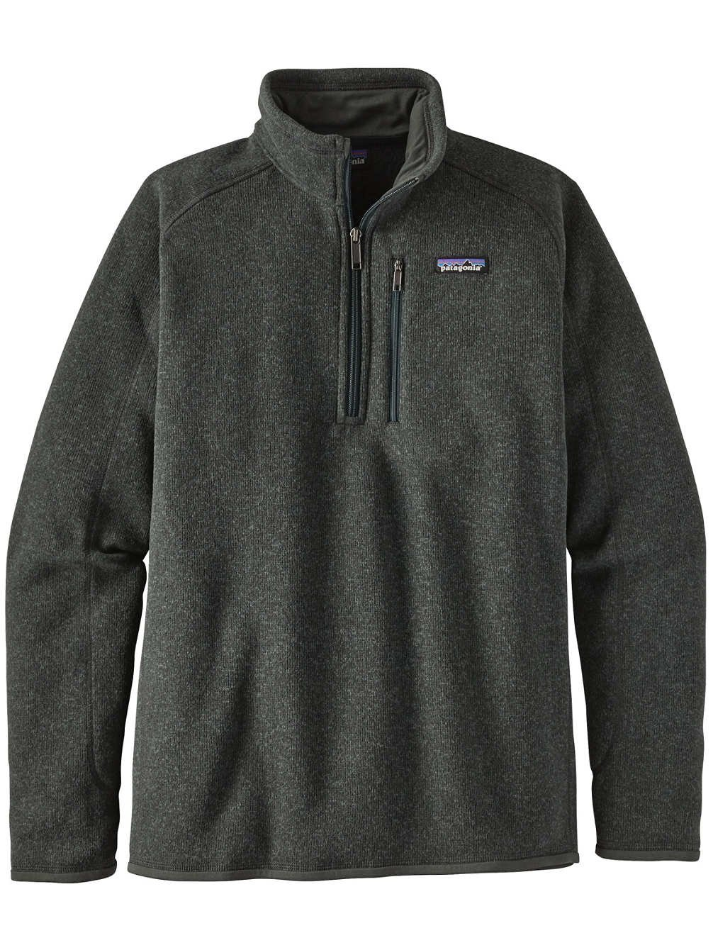 Patagonia Ms Better Sweater 1/4 Zip Casual Jacket Carbon Mens S
