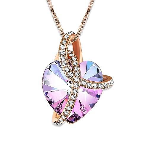 Angelady Colgante de Cristal en Forma de corazón de ...