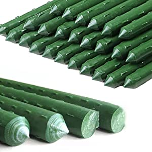 6Ft 25Pcs Plant Stakes Garden Tomato Sticks Supports for Potted Cucumber Strawberry Bean
