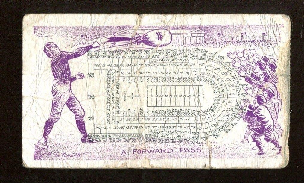 1931 Notre Dame v Northwestern Football Ticket 10/10 Soldier Field Chicago 43407