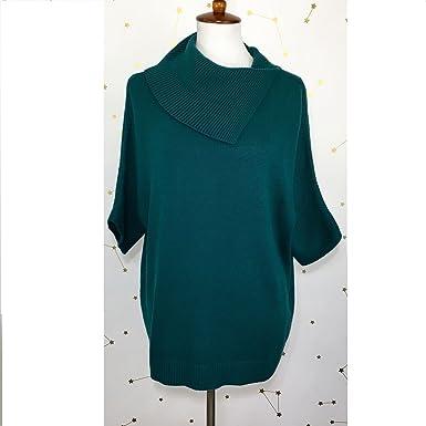 e0a396d8e1a4d8 CAbi Oversized Pullover Foldover Split Cowl Neck Orange Marled Sweater (xs)