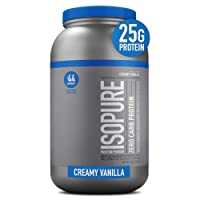Isopure Zero Carb, Vitamin C and Zinc for Immune Support, 25g Protein, Keto Friendly...