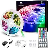 WenTop Luces LED Habitacion 10 Metros, Tiras LED RGB 5050, luz led Colores con Control Remoto, Para Decoración de…
