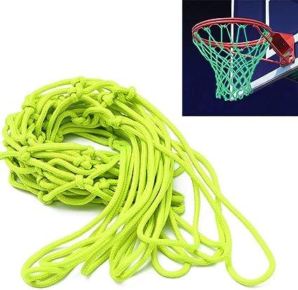 Zilong Nouveauté Remplacement de Basket Filet Filet Fluorescent avec Couleur Vive Parfait pour Jeu de Basketball de Nuit en Plein Air (Vert)