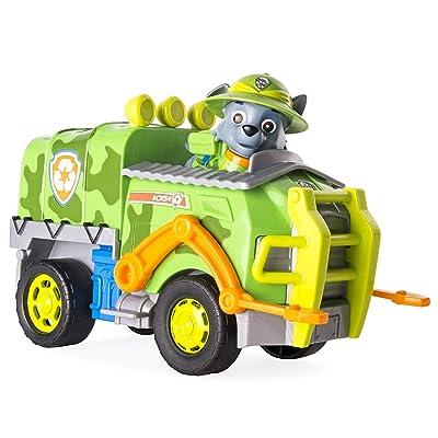 Paw Patrol Jungle Rescue Rocky Et Camion Figurine Et