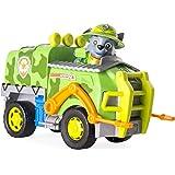 Paw Patrol Jungle 6033378 - Vehículo de Rocky con cachorro