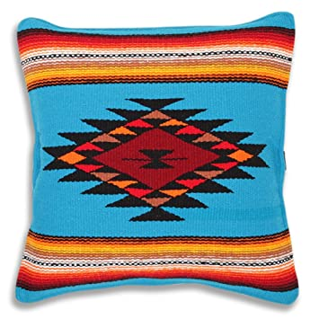 El Paso Designs Serape Throw Pillow Covers, 18 X 18, Hand Woven in Southwest and Native American Styles. 18