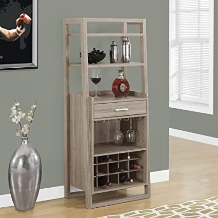 Amazon.com: Monarch Specialties I 2326, Home Bar, Ladder Style, Dark ...