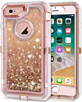 iPhone 6S Plus Case, iPhone 6 Plus Case, Anuck 3 in 1 Hybrid Heavy Duty Defender Case Sparkly Floating Liquid Glitter...