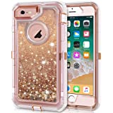 Anuck Case for iPhone 6S Case, for iPhone 6 Case (4.7 inch), 3 in 1 Hybrid Heavy Duty Defender Case Sparkly Floating…