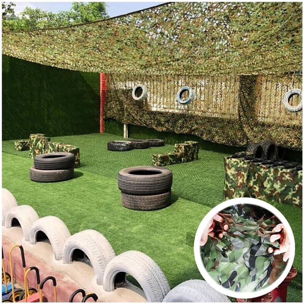 ZHhome Red De Camuflaje 2mx3m 3mx5m, Verde Camo Net Adicional Red De Refuerzo Malla De Sombra Sun Sunscreen Net, Adecuado para Ocultación Jardín De Coches Decoración Tienda De Pesca (Size : 2x4m):