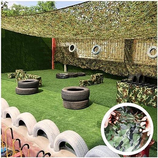 ZHhome Red De Camuflaje 2mx3m 3mx5m, Verde Camo Net Adicional Red De Refuerzo Malla De Sombra Sun Sunscreen Net, Adecuado para Ocultación Jardín De Coches Decoración Tienda De Pesca (Size : 5x8m):