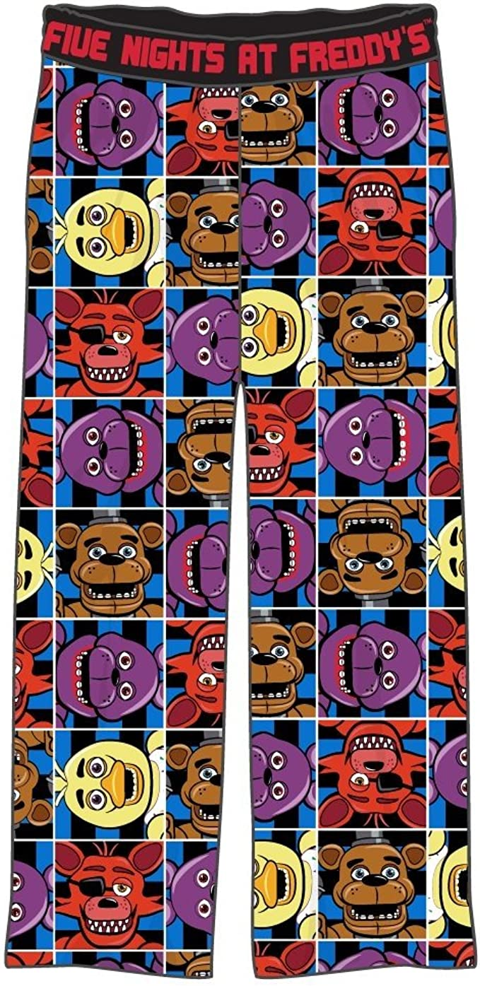 Five Nights at Freddys Character Squares Big Boys Youth Pajama Lounge Pants