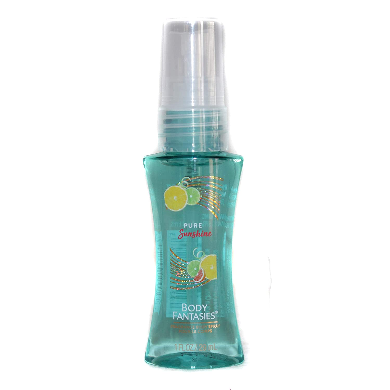 Body Fantasies (1) Bottle Fragrance Body Spray - Pure Sunshine Scent - Limited Edition - Refillable Purse/Travel Size Bottle - 1 fl oz