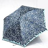 ブランド傘 ハナエ モリ HANAE MORI(折りたたみ)紺 バラ ブランド折り畳み傘