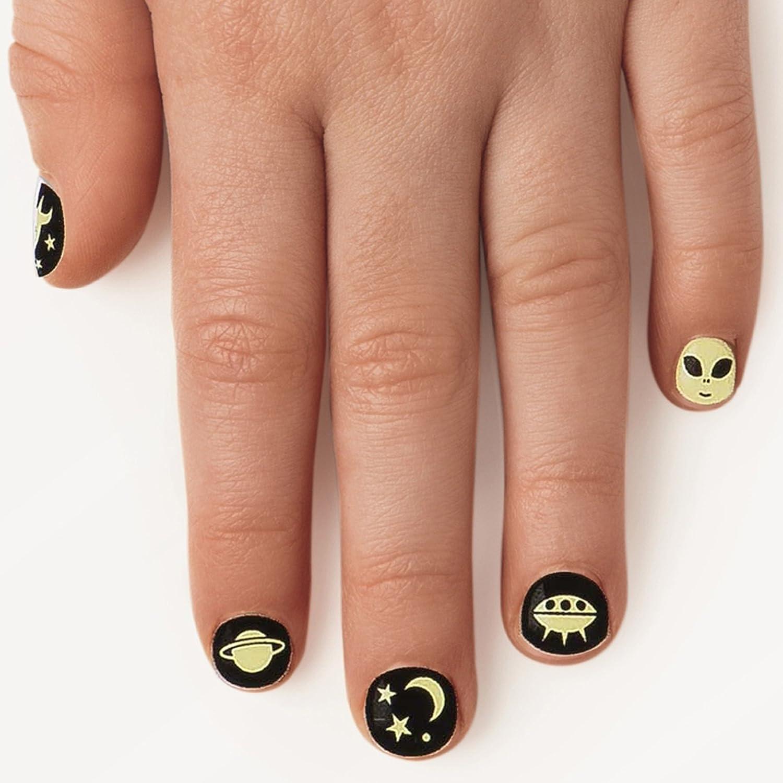 NPW Fingernail Glow in the dark Nail Stickers Aufkleber Leuchtet im ...