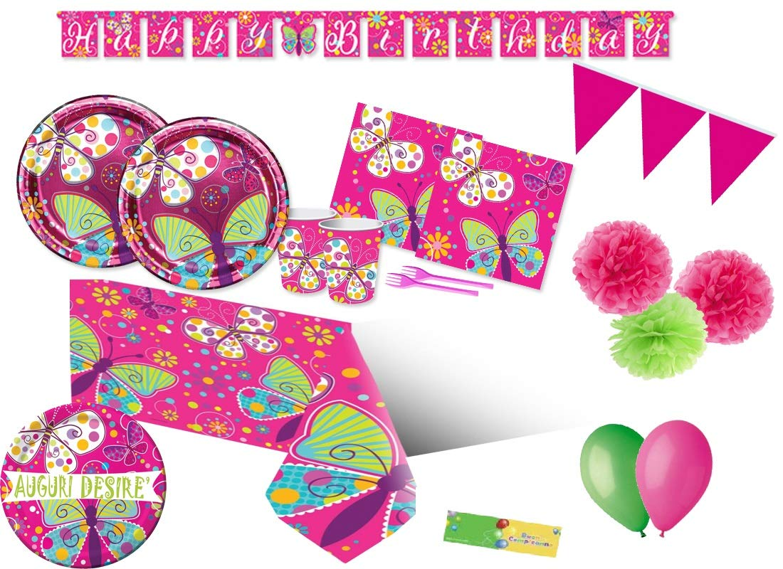 Creative Converdeing Kit n 63 Farfalle Coordinato addobbi Festa Compleanno Butterfly Party