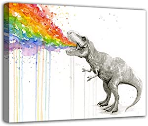 Watercolor Dinosaur Canvas Wall Art Home Decoration Canvas Printing Posters Artwork Art Printed Picture Gifts Home Decor Living Room Bedroom