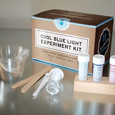 Cool Blue Light Chemistry Kit | Do 11 illuminating experiments | Safe & non toxic | Made in the USA | Copernicus Toys…: Toys & Games