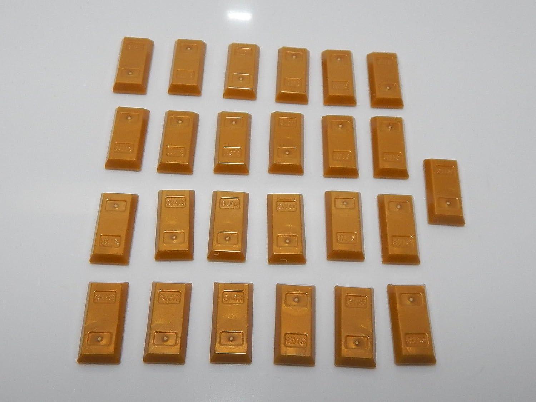 Lego Lot of 25 Utensil Gold Ingot (Bar)