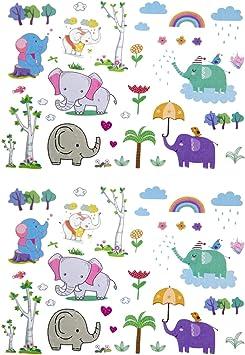 Oblique Unique® - Tatuajes para niños, diseño de Elefantes, 70 ...