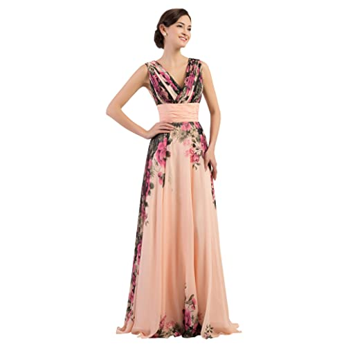 Long Evening Wedding Bridesmaid Dress for Women Chiffon Ball Gowns Prom Dress