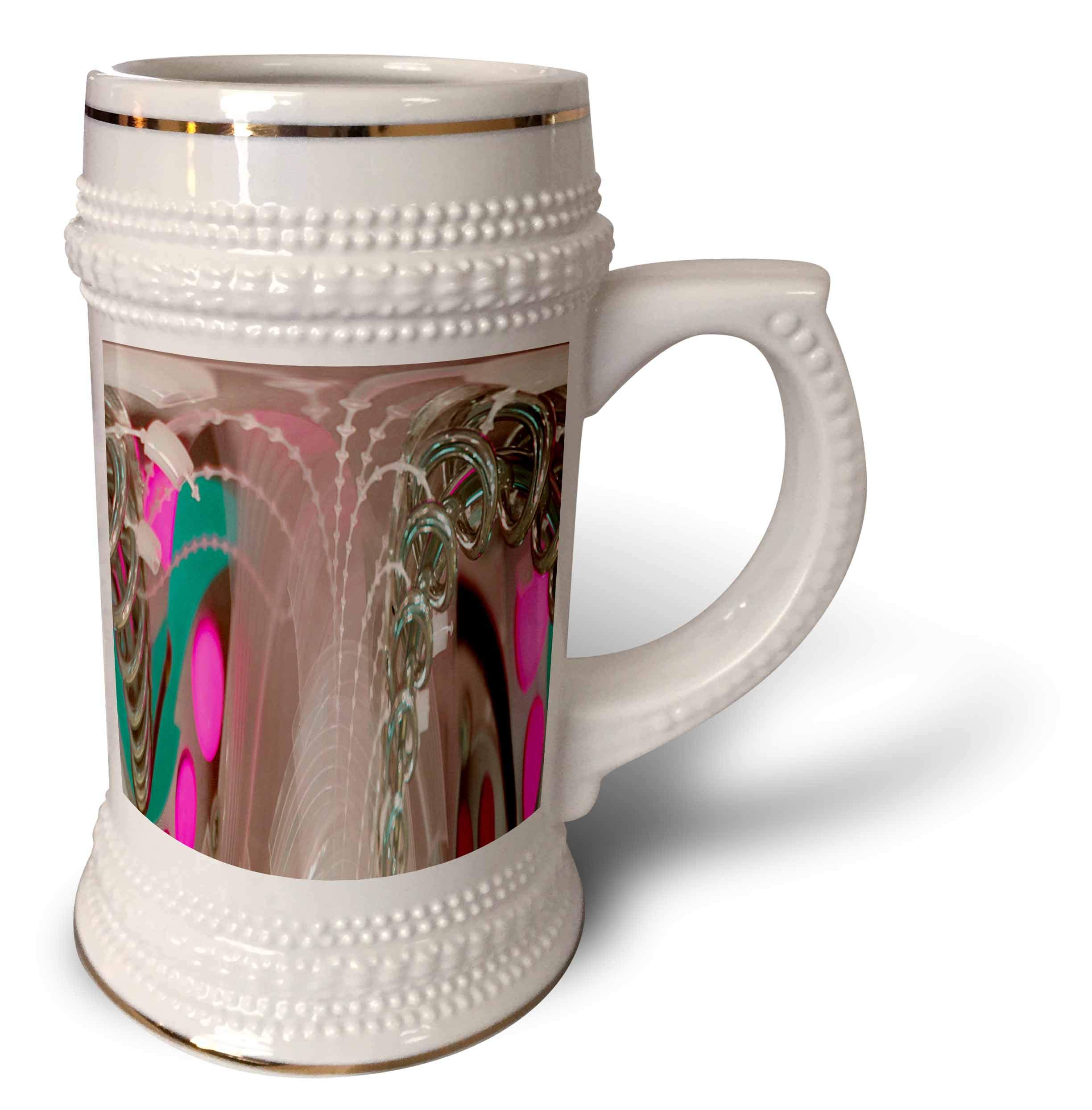 3dRose Jos Fauxtographee- Polar to Rectangular Metal - A metal game at a restaurant with pink and green hues made modern - 22oz Stein Mug (stn_288895_1)