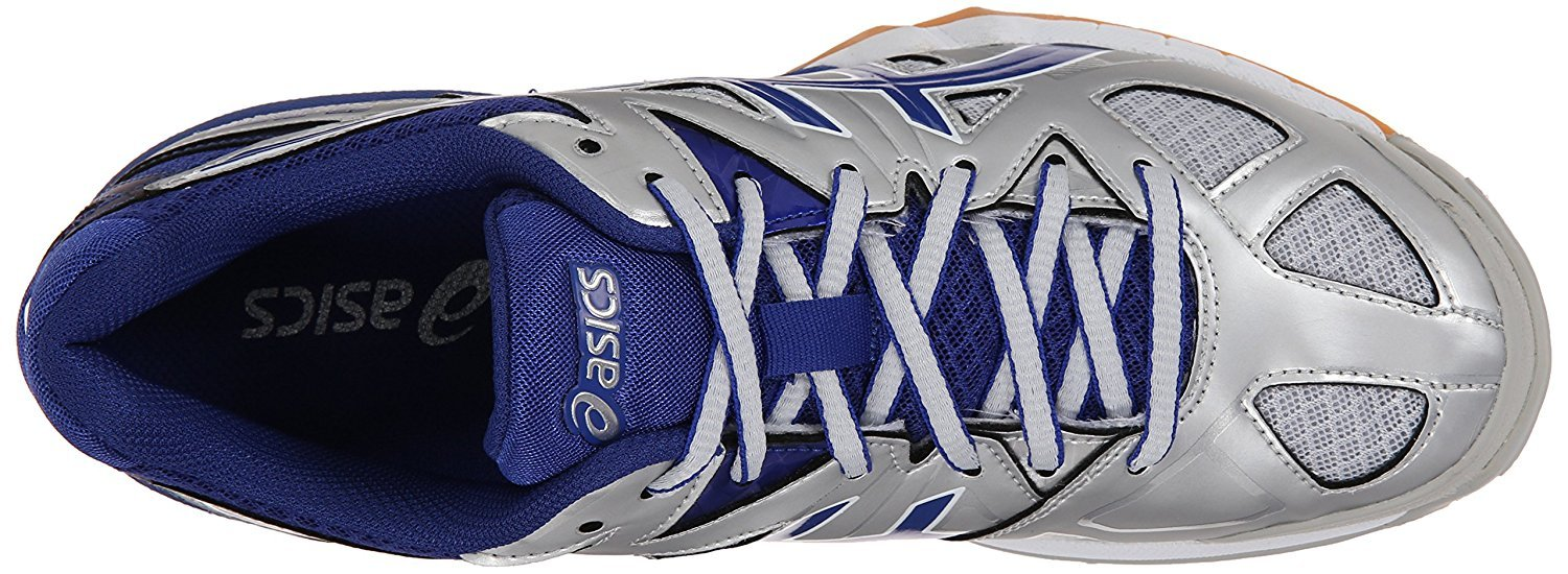 ASICS Women's Gel Tactic Volleyball Shoe, Silver/Royal/White, 14 M US