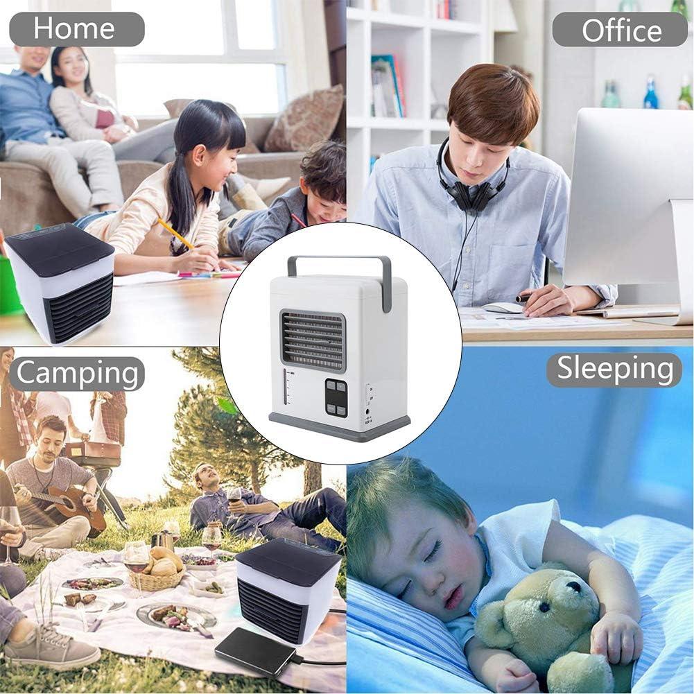 Garsent Mini Luftk/ühler Hotel wei/ß Mobile Air Conditioning Air Cooler Luftbefeuchter Ventilator f/ür B/üro Mini tragbare Klimager/äte K/üche