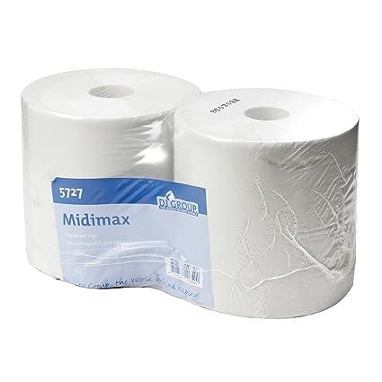 DJGroup midimax paño Toallitas limpiadoras para Rollo Blanco Reciclado de Papel, 1 Capa, 29