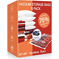 VacPack Space Saver Bags,8 Pack Jumbo Vacuum Storage Bags With Hand Pump for Home and Travel (8J)