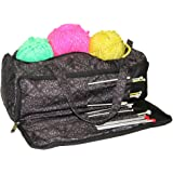 Knitting Bag, Sewing Accessories and Craft Needle Storage Organiser Case In Imperial Black by Roo Beauty